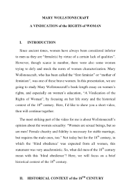 analysis of mary wollstonecraft s vindication