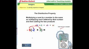 Properties Of Operations Chart Properties Of Integers Solutions Examples Videos