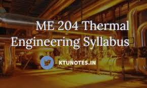 ME 232 Thermal Engineering Laboratory Syllabus