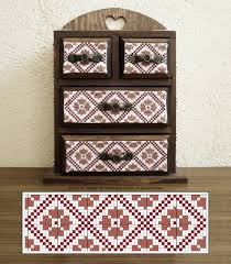 Dmc Thread Cabinet Free Cross Stitch Project Little Treasures Ajisai Press