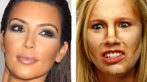 people try kim kardashian makeup for the first time