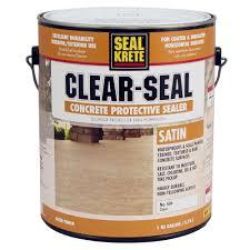 Seal Krete 1 Gal Satin Clear Seal Concrete Protective Sealer