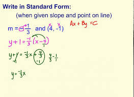 write standard form when given point and slope you to general maxresde slope point form form