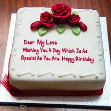 Romantic Birthday Cake For Lover Express Your Love