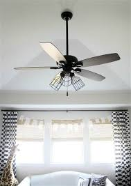 i loved the look of the industrial looking ceiling fans especially the ones with the caged light fixtures some s weren t outrageous but they were