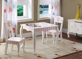 purple stained wooden kids table