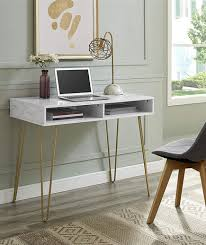 Image Ikea Marble Computer Desk Amazon Real Simple This Chic Home Office Furniture Will Give Your Workspace Fresh New