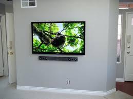 65ampquot samsung led tv with samsung soundbar mounted on wall 65 samsung led tv with samsung