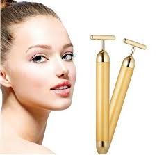 Waterproof Pulse <b>Beauty Bar 24K Golden</b> T Shape Firming Facial ...