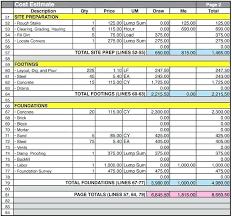 Home Construction Estimator Excel Microsoft Excel Estimate Template Excel Cost Estimate