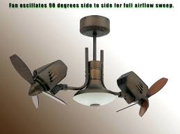 dual head oscillating ceiling fan elegant double fans freeiphone5 co intended for 2