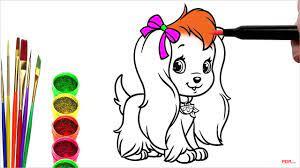 38+ Tranh tô màu con chó dễ thương cho bé tập tô