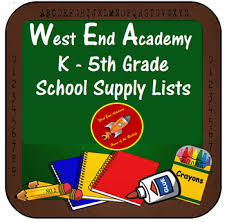 West End Academy K - 5 Supply Lists / Main Page