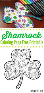 Color in this picture of a shamrock and others with our library of online coloring pages. Shamrock Coloring Page Free Printable Finding Zest