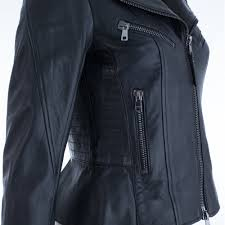 soft leather biker jacket in black