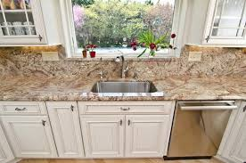 Granite Countertop Backsplash Adorable Typhoon Bordeaux Granite Countertops Best Kitchen Countertop Ideas