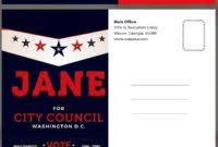 Political Campaign Brochure Template Best Candidate Political ...