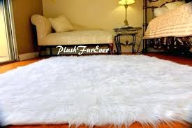 faux fur area rugs amazing off white faux fur sheepskin area rug fur accents intended for