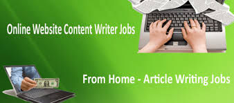 we help people to get online home based jobs and  online content writer jobs