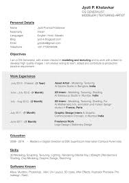 Resume And Recommendations Jyoti P Khatavkar