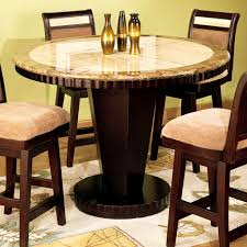 granite top round dining table luxury dining room improvement with counter height table sets high dinner
