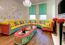 Decorations:Fancy Colorful Living Room Interior In Purple Color Scheme  Colorful Living Room Furniture Sofa