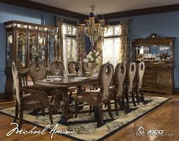 michael amini dining room elegant the sovereign traditional rectangular set by aico
