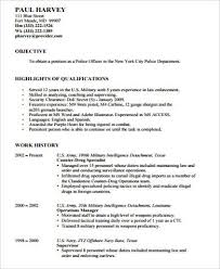 Resume For Police Officer Resume Template Military Police Resume Examples Sample Resume