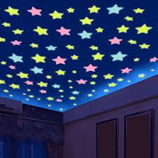 50pcs <b>3D</b> Stars Glow In The Dark Wall Stickers <b>Luminous creative</b> ...
