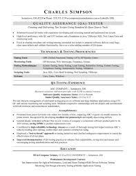 Qa Software Tester Resume Elegant Resumes Quality Assurance Resume
