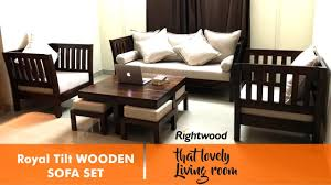Impressive Wooden Sofa Set Designs Design Royal Tilt By Rightwood Furniture To Decorating