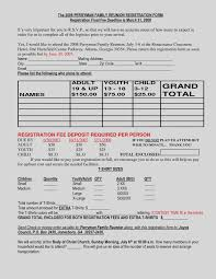 Rent Roll Form Inspiration Family Reunion Registration Form Awesome Free Excel Rent Roll