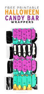Free Printable Halloween Candy Bar Wrappers Printable Crush