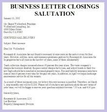 Salutation Letter Format Closing Salutations For Business Letters ...