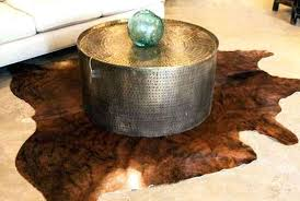 hammered drum coffee table coffee table design hammered round metal drum coffee table with aged brass