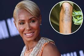 Jada Pinkett Smith shows off arm tattoo ...