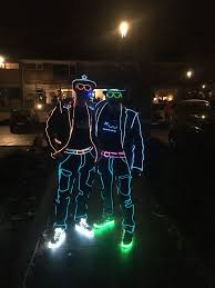 Light Up Stick Figure Costume Uk Electroluminescent Wire Led Suit At Soul Party Celebration