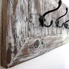 Reclaimed Wood Wall Coat Rack Rustic Reclaimed Wood Coat or Towel Rack for Entryway or Mudroom 44