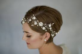 how to style wedding hair accessories with short hair by debbie carlisle