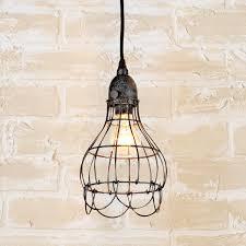 cage lighting pendants. industrial cage work light pendant aged_iron lighting pendants p