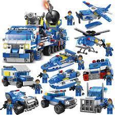 Bộ đồ chơi lắp ráp LEGO 780 mảnh ghép HUIQIBAO TOYS chủ đề cảnh sát cho trẻ  em