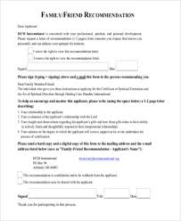 Free 5 Sample Recommendation Letter For A Friend In Pdf Doc