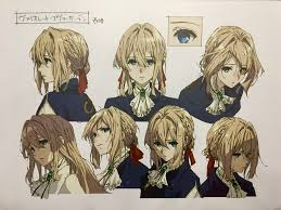 Kyoani Character Design Violet Evergarden Character Sheet At A Kyoani Exhibit Anime