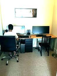 computer desk ikea two person computer desk for corner 2 inside plans small white computer desk