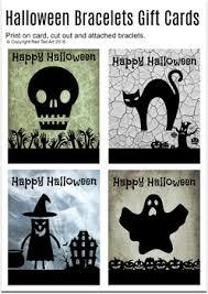 Halloween Gift Cards Halloween Friendship Bracelets Templates Worksheet Gift Cards