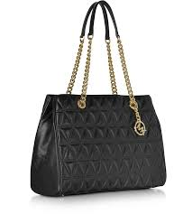 Michael Kors Scarlett Large Black Quilted Leather Tote Bag at FORZIERI & Scarlett Large Black Quilted Leather Tote Bag - Michael Kors. 30% Off Adamdwight.com