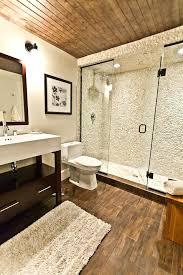 wood tile shower porcelain wood tile bathroom contemporary with pebble cotton bath mats glass shower door wood tile shower