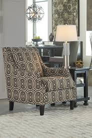 Printed Chairs Living Room Ashley 3510021 Bernat Printed Linen Fabric Upholstered Accent Chair