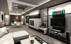 Minimalist Grey Wall Luxury House Interior Modern With Modern - Luxury apartments inside
