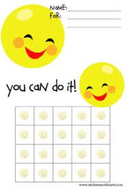 I Can Do It Chart Printable 7 Best Sticker Chart Printable Images Sticker Chart Kids
